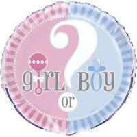 Gender Reveal 18'' Foil Balloon