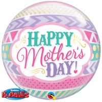 """Dots & Stripes Mother's Day 22"""" Single Bubble"""