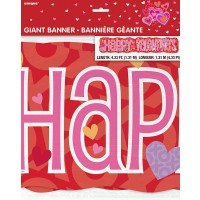 Valentine Giant Jointed Banner - 4.33ft Long.