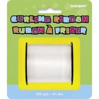 White Curling Ribbon - 100yds