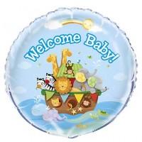 """18"""" Foil Balloon Packaged - Noah's Ark - Baby Shower 1 Ct. 5 Pk"""