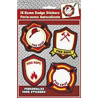Name Badge Stickers - Fire Truck - 16ct.