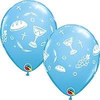 "Communion Elements Blue - 11"" Latex Balloon (25CT)"