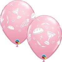 "Communion Elements Pink - 11"" Latex Balloon (25CT)"
