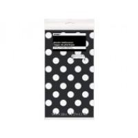 "Midnight Black. Dots Plastic Tablecover 54"" x 108"""