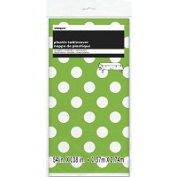 Lime Green. Dots Plastic Tablecover