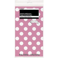 Hot Pink. Dots Plastic Tablecover