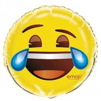 "18"" Foil Balloon - emoji Crying Laughing - Packaged"