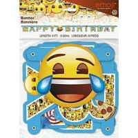 Large Jointed Banner 6ft.- emoji Happy Birthday