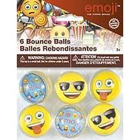 emoji Bounce Balls - 6ct. - 6PK.