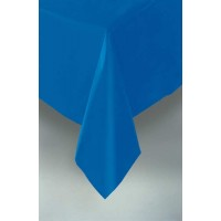 "Royal Blue Plastic Tablecloth 54""x108"""