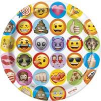 "9"" Celebration emoji Plates - 8ct."