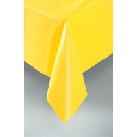"Sunflower Yellow Plastic Tablecovers 54""x108"""