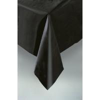 "Midnight Black Plastic Tablecover 54""x108"""