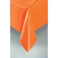 Pumpkin Orange Plastic Table Cover