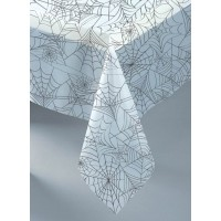 """Clear Plastic Spider Web Tablecover 54"""" x 108"""""""
