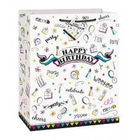 Doodle Party Large Gift Bag 12½H x 10½W