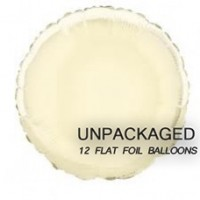 """Ivory - Round Shape - 18"""" foil balloon (Pack of 12, Flat)"""