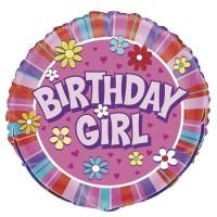 "Birthday Girl 18"" Foil Balloon"
