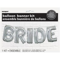 Balloon Banner Kit - BRIDE - (Air Fill Only)