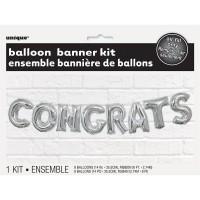 Balloon Banner Kit -CONGRATS - (Air Fill Only)