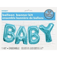 Balloon Banner Kit - BABY (Blue) - (Air Fill Only)