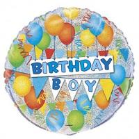 "Birthday Boy - 18"" Foil Balloon"
