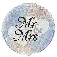 """Mr & Mrs - 18"""" Foil Balloon"""