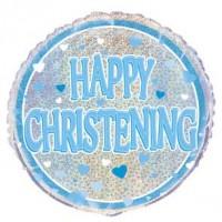 "Happy Christening Blue - 18"" Foil Balloon"