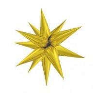 Large Gold 3D Starburst Balloon 100cm.