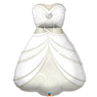 "Bride's Wedding Dress - 28"" Foil Balloon"