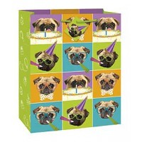 Pug Puppy Party Large Gift Bag 12½H x 10½W
