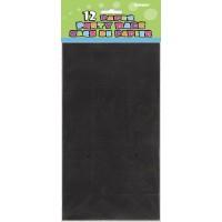"""Black Paper Party Bags 10""""H x 5 1/4""""W x 3 1/2""""D 12CT."""