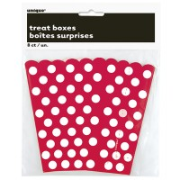 Ruby Red. Dots Treat Boxes 8CT.