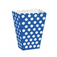 Royal Blue. Dots Treat Boxes 8 CT.