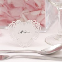 Vintage Romance - Free Standing Laser Cut Place Cards - White 10ct