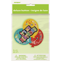 Deluxe Button Badge Its My Birthday 3D