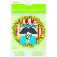 Deluxe Button Badge Birthday Boy 3D