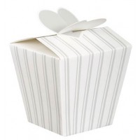 Wedding Stripe Favour Boxes - Wedding Favours 4 CT.