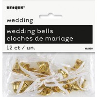 Gold Wedding Bells - Wedding Favours 12 CT.