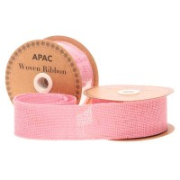 Pink Woven Ribbon (50mm x 10yds)