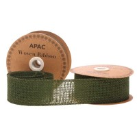 Dark Green Woven Ribbon (50mm x 10yds)