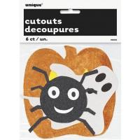 Halloween Assorted Mini Glitter Cutouts 6ct