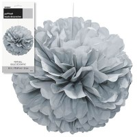 Puff Decor 16'' 1CT. Silver