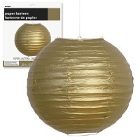 "Paper Lanterns 10"" Gold 1CT."