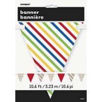 Bold Dot Stripe Paper Flag Banner Bunting - 12ft.