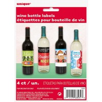 Christmas Spirits Wine Bottle Lables 4CT