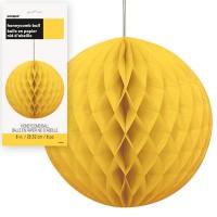 Honeycomb Balls 8'' 1CT. Yellow