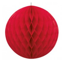 "Honeycomb Balls 8"" 1CT. Red"