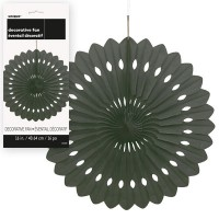 Decorative Fans 16'' 1CT. Black